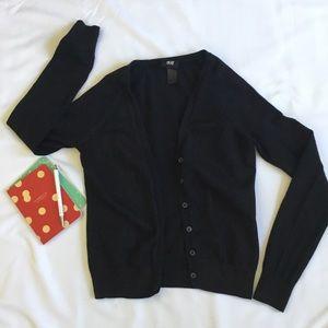 H&M - Solid Black Cardigan Sweater